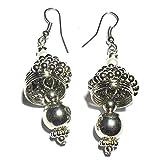 Beadworks Metal Glam Earrings in Silver ...