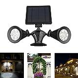 iThird solar strahler mit bewegungsmelder, solarleuchten mit 12 superhelle LEDs für Garten, Veranda, Treppen, Terrasse, Garagen, Eingang