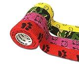 LisaCare selbsthaftender Wundverband - elastisches, wasserfestes, staub- fett- und schmutzabweisendes Pflaster - bunt mit Motiven - 4 Rollen á 2,5cm x 4,5m