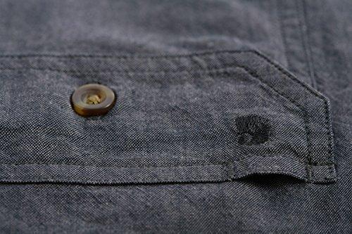 Carhartt Fort Solid Short Sleeve Shirt - Arbeitshemd Herren - S200 Black Chambray