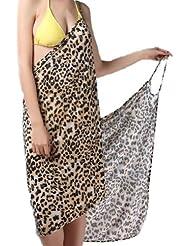 "Waooh - Mode - Paréo / Robe de plage ""Paloma"" -léopard"