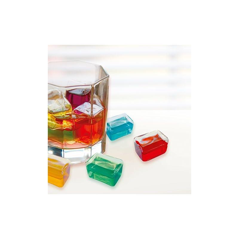 Contento 646086 Eiswrfel Aus Glas 6 Er Set Bunt Gefllt
