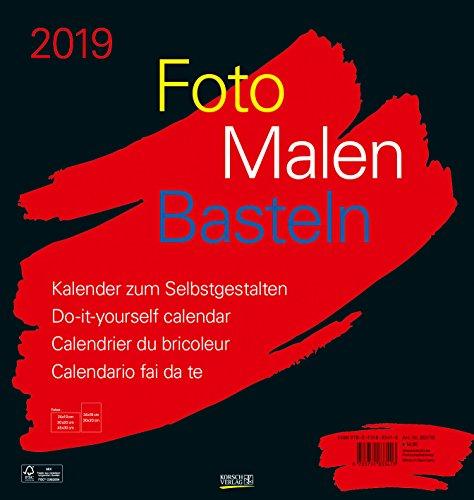 FMB schwarz 45,5 x 48 262119 2019: Fotokalender zum Selbstgestalten. Do-it-yourself Kalender mit festem Fotokarton. Format: 45,5 x 48 cm