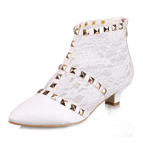 Miyoopark - Stivali Chukka donna , bianco (White-3.5cm Heel), 42