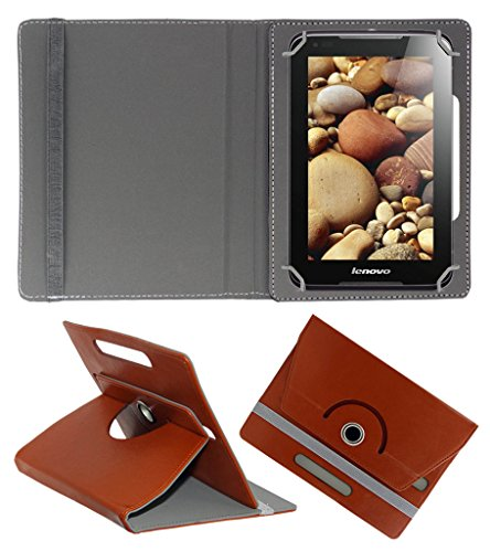 ACM ROTATING 360° LEATHER FLIP CASE FOR LENOVO IDEAPAD A1000 TABLET STAND COVER HOLDER BROWN  available at amazon for Rs.149