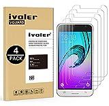 ivoler [4 Pack] Vetro Temperato Compatibile con Samsung Galaxy J3 2016 [Garanzia a Vita], Pellicola Protettiva, Protezione per Schermo
