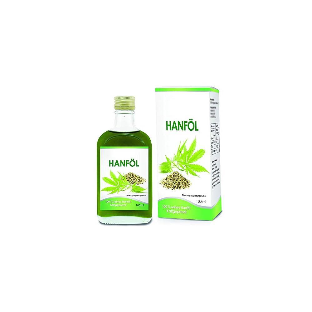 Hanfl 100 Rein 100ml Kaltgepresst Hemp Oil