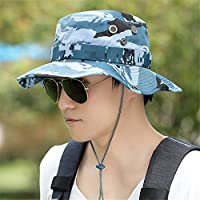 BFQCBFSG Sombrero De Pescador para Hombres Camuflaje Sombrero De Montañismo Al  Aire Libre Sombrero De Sol 955f59b3908