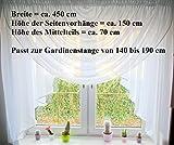 Fertiggardine aus Voile NEU Top Design SET Schöne Gardine HG-1 Modern (Fensterbreite 140 - 190 cm)