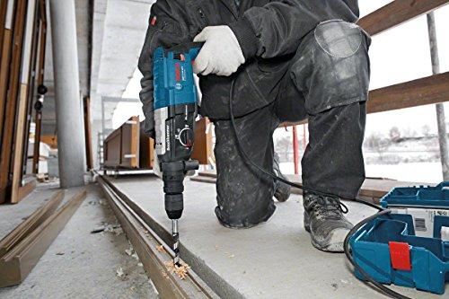 Bosch Professional GBH 2-28 DFV Bohrhammer (SDS-plus-Wechselfutter, 13 mm Schnellspannbohrfutter, bis 28 mm Bohr-Ø, Koffer) blau - 3