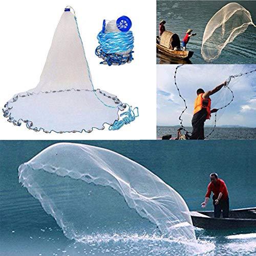 Taihang Outdoor Hand Werfen Fischernetz Casting Einfach Fischköder Fang Netting Cast Mesh -