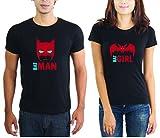 LaCrafters Couple tshirt - Batman and Ba...