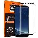 Samsung Galaxy S8 Plus Panzerglas, Spigen, Schwarz, Volle Abdeckung, Easy Install Kit, 9H gehärtetes Glas, Antikratz, Glas 0.33mm, Galaxy S8 Plus Schutzfolie(571GL21780)