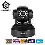 Sricam 720P HD WiFi de SP012interior Pan/Tilt ONVIF visión nocturna por infrarrojos IP cámara apoyo dos manera Audio de detección de movimiento TF tarjeta–negro