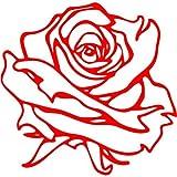 Rose Aufkleber 001, 10 cm, rot