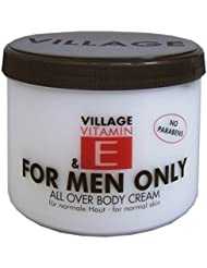 Village For Men Only Body Cream mit Vitamin E, 1er Pack (1 x 500ml)
