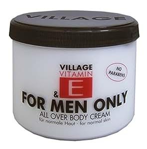 Village For Men Only Body Cream mit Vitamin E, 1er Pack (1 x 500ml)