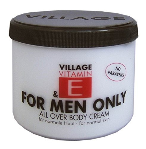 Village For Men Only Body Cream mit Vitamin E, 1er Pack (1 x 500 ml) (Hautpflege Vitamine)