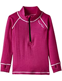 Kozi Kidz Merino Base Layer - Top interior térmico para niña, color rosa, talla UK: 130 cm