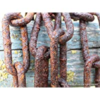 2 Meter bis 25 Meter alte verrostete Stahlkette 4 mm, rostige Ketten, antik
