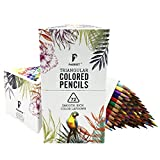 #8: Parrot Premier 72ct Colored Pencils, Soft Core, Triangular-Shaped, Pre-Sharpened, for Artists & Adult Coloring Book