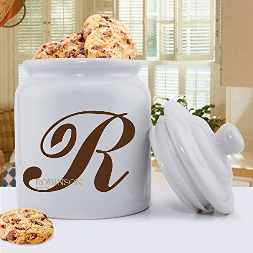 Personalisierte Cookie Jar-Monogramm Familie Initiale Cookie Jar-Custom Cookie Jar