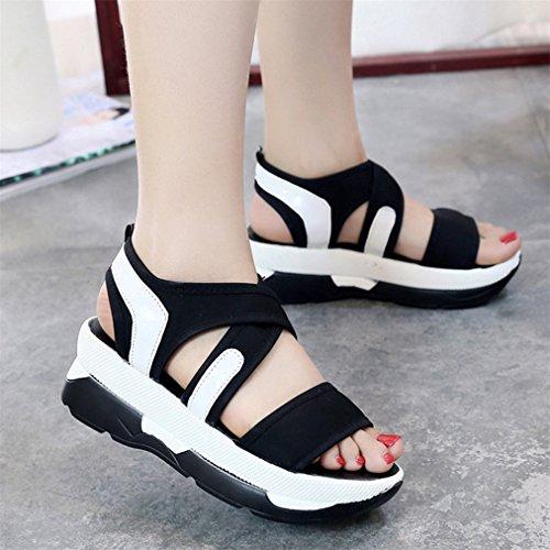 Sport Schwarz Sandalen Plattform Wedges Schuhe Frauen Breathable Casual Vovotrade nUIS4I