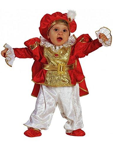 Prinz Ideen Kleine Kostüm Der (Baby Kostüm König rot-gold - Baby Kostüm Prinz mit Hut,)