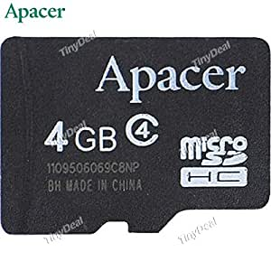APACER 4GB TF Card Micro SDHC T Flash Card Micro Secure Digital Memory Card TransFlash ATF-133301