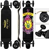 Longboard Offroad Drop-Down Komplettboard Skater ABEC9 Funboard Ahornholz Atlantic Rift Eye Skateoboard Mountainboard