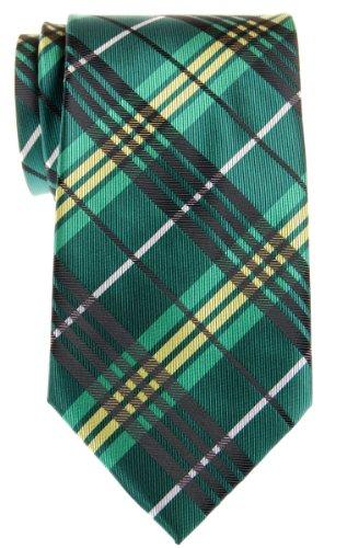 Retreez elegante tartán de cuadros escoceses con tejido de microfibra para hombre corbata–varios colores Verde verde Talla única