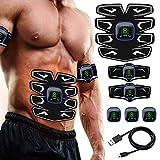 A-TION Electrostimulateur Musculaire Entraînement pour Abdomen/Bras/Jambe, Renforcement Musculaire et Brûlures de Graisse Hommes Femmes, Smart Ceinture Abdominale Electrostimulation Affichage LCD