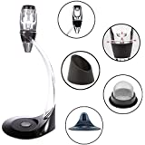 Vintoral Decanter Red Wine Aerator And Stand Oxygenator Tower Aerating Gift Set