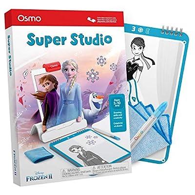 Osmo Essence Super Studio Disney Frozen 2 Juego - Edades 5 - 11 - Aprende a Dibujar Elsa, Anna, Olaf y más Favoritos y Ver cómo Vienen a la Vida - para iPad y Fire Tablet Base requerida por Tangible Play, Inc.