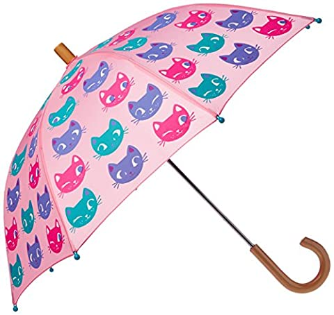 Hatley Printed Umbrellas, Parapluie Fille, Pink (Silly Kitties), Taille Unique