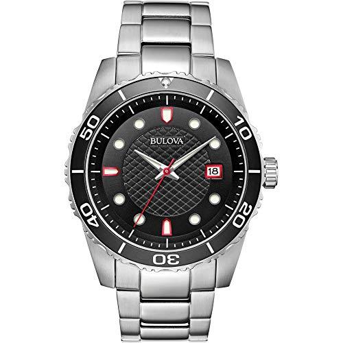 Bulova Herren Analog Quarz Uhr mit Edelstahl Armband 98A195 (Edelstahl Bulova Uhr Herren)
