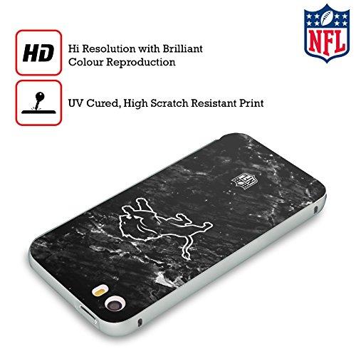 Ufficiale NFL LED 2017/18 Detroit Lions Argento Cover Contorno con Bumper in Alluminio per Apple iPhone 5 / 5s / SE Marmo