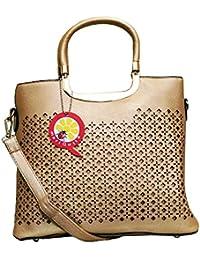 MariQuita Party Golden Cut Work Handle Sling Women Girls Handbag