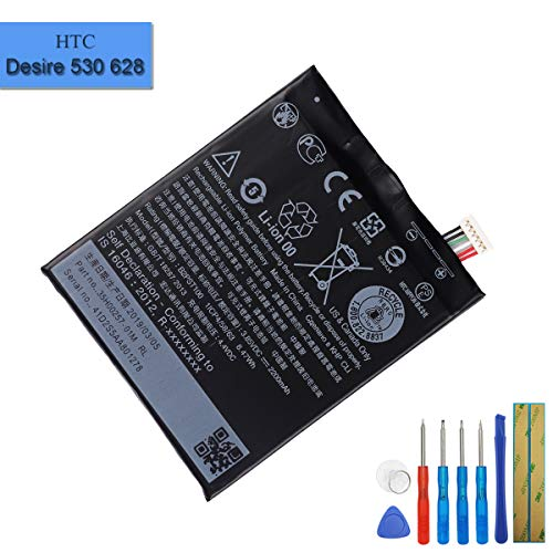 B2PST100 Batterie de Rechange Compatible avec HTC Desire 530 A16 A17 Desire 630 Desire 650 avec Outils