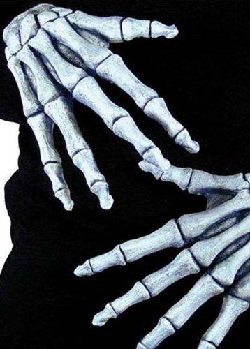 Halloween Deluxe Erwachsene Skelett Handschuhe