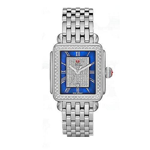Michele Deco, colore: blu, con cinghia MWW06T000082-Orologio da donna