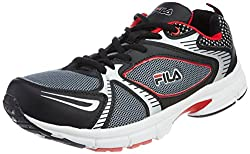 Fila Mens Citrus Black and Red Running Shoes -7 UK/India(41 EU)(8 US)