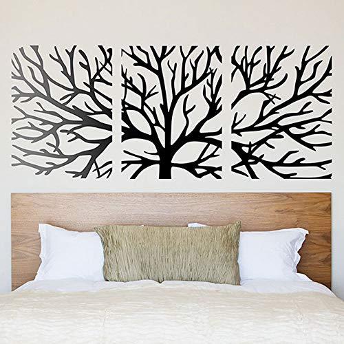 hllhpc Wandtattoo Äste Innovative und aktuelle Stil Wandtattoo EIN Baum in 3 Module geteilt Schlafzimmer Decoration57 * 137cm