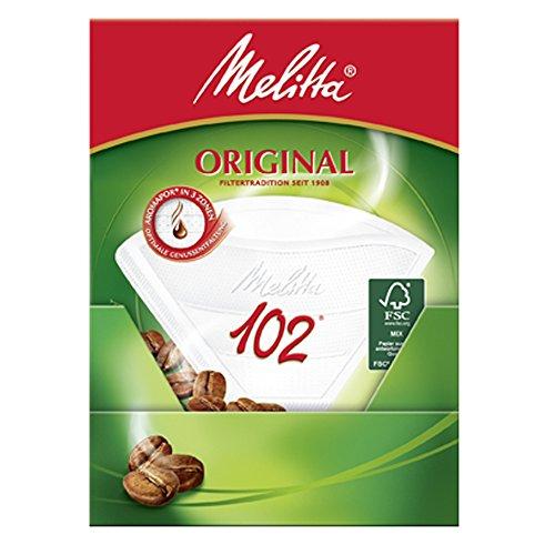 Melitta Filtertüten 102, 3 Aromazonen, Weiß, 80 Stück