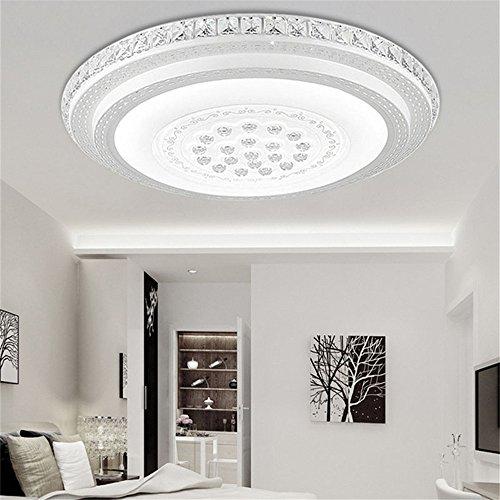 MCTECH® 64W Plafonnier LED Intensité variable cristal Lampe murale Panneau lampe chambre salon salle de bain plafonnier, blanc froid