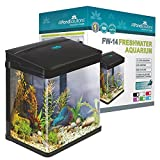 All Pond Solutions Nano Fisch Tank Aquarium LED-Lichtern, klein, 14 Liter, schwarz