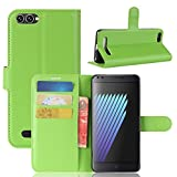Casefirst Doogee X30 Case Luxury PU Leather Wallet Flip Protective Skin Case Cover with Card Slots and Stand for Doogee X30 Green
