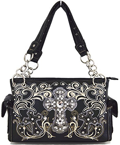 Blancho Biancheria da letto delle donne [Croce Satchel] PU Leather Bag Set Elegante Portafoglio Hanbag Combo Bag borsa di modo TURCHESE COMBO-BLACK