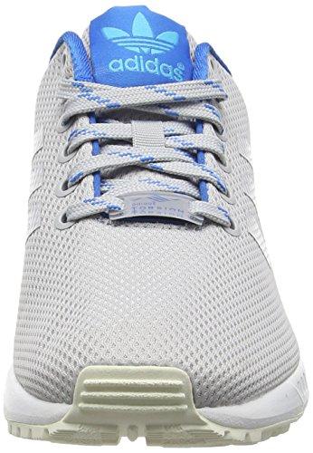 adidas Zx Flux, Scarpe da Corsa Unisex – Adulto Grigio (Light Solid Grey/Shock Blue/Blue GlowLight Solid Grey/Shock Blue/Blue Glow)