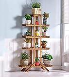Cremagliera fiore Fioriera in legno massello Salone multistrato da interno Legno Pianta grassa Pavimento da terra Balcone per vaso da fiori